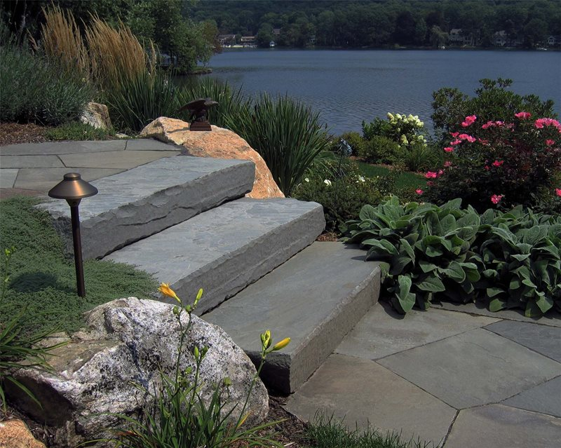 Stone Steps Entryways, Steps and Courtyard Harmony Design Group Westfield, NJ