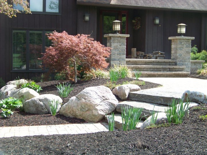 Entryways, Steps and Courtyard Stonewood and Waters Mendon, NY