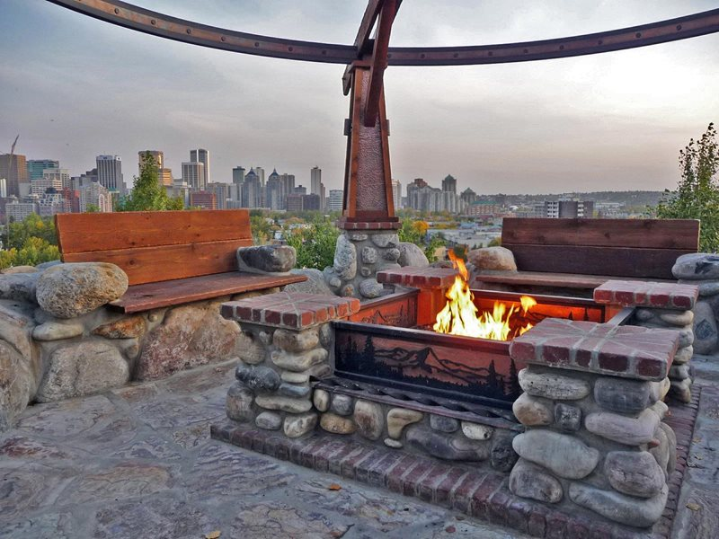 Custom Fire Pit, Calgary Fire Pit DDLA Design Dallas, TX