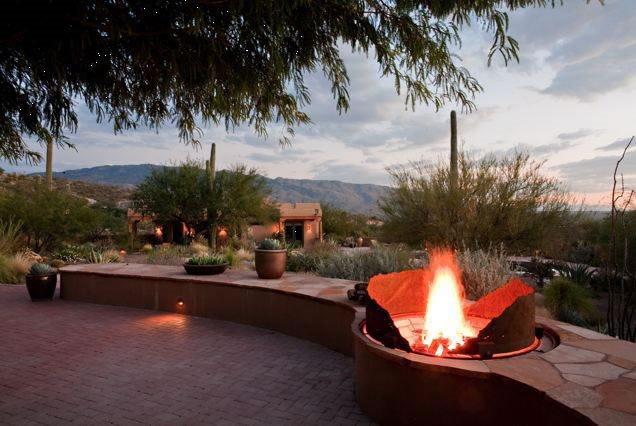 Custom Fire Pit, Corten Steel Fire Pit Boxhill Landscape Design Tucson, AZ