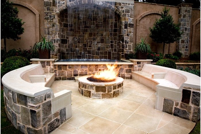Fire Pit Design, Fire Pit Seating Fire Pit Ed Castro Landscape Roswell, GA