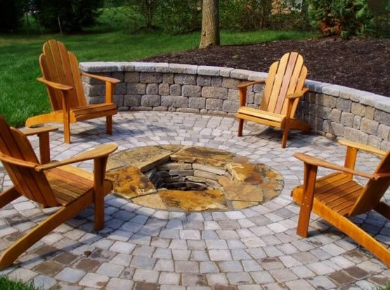 Fire Pit, Pavers Fire Pit Acadia Landscape Co. Knoxville, TN