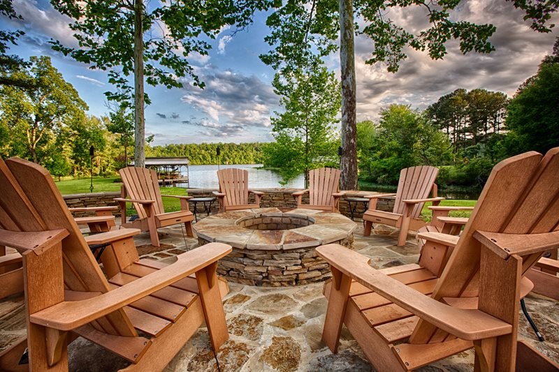 Flagstone Fire Pit, Lake View Fire Pit Proscape Inc.  Tuscaloosa, AL