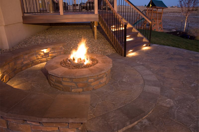 Gas Fire Pit, Ceramic Logs Fire Pit Landscaping Network Calimesa, CA