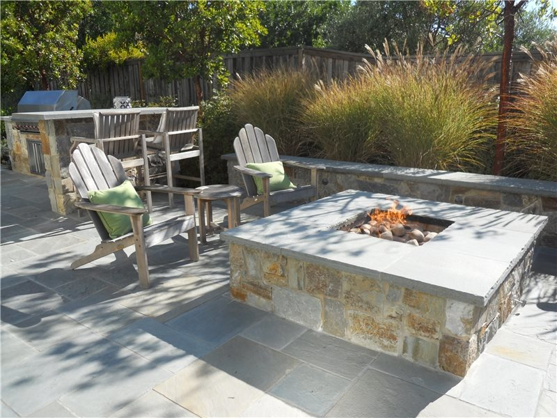 Gas Fire Pit, Stone Fire Pit Fire Pit Shades of Green Landscape Architecture Sausalito, CA