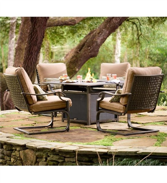 Middleburg Seating Set With Propane Fire Pit Fire Pit Plowhearth Madison, VA