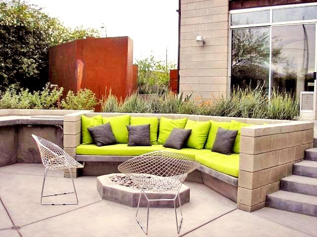 Modern Patio Design Fire Pit REALM Tucson, AZ