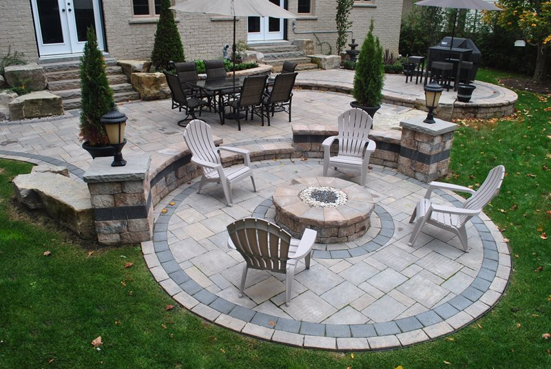 Fire Pit Whitby On Photo Gallery Landscaping Network