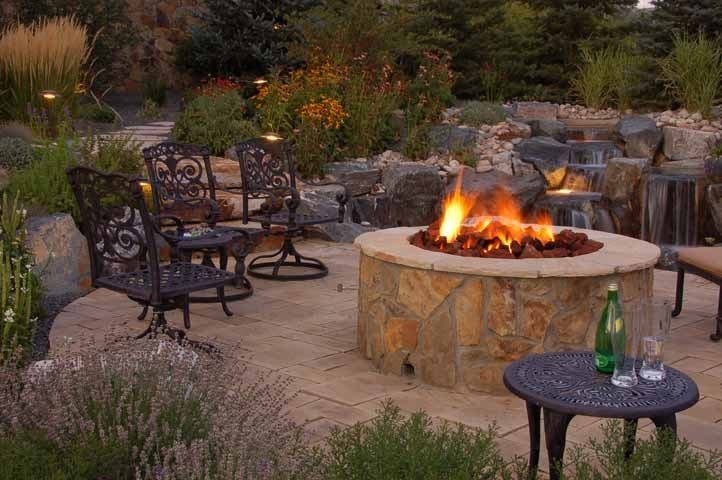 Stone Fire Pit Design Fire Pit Designs By Sundown Englewood, CO