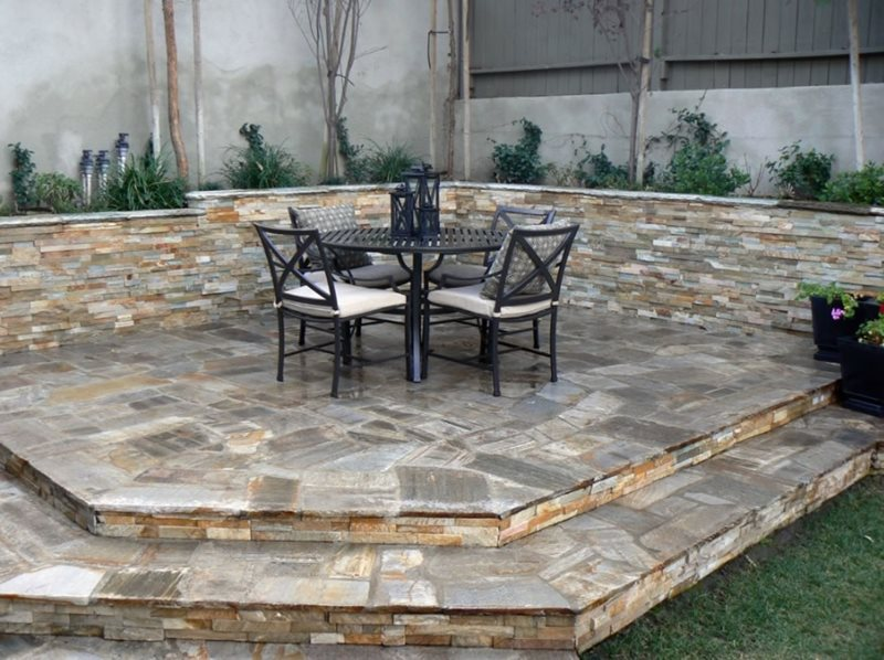 Flagstone patio hermosa beach ca photo gallery for Find local garden designers