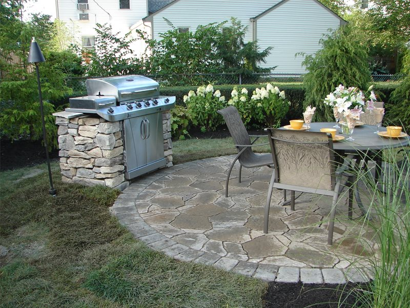 Stone Grill Flagstone Patio S.A.T. Landscape Services Columbus, OH