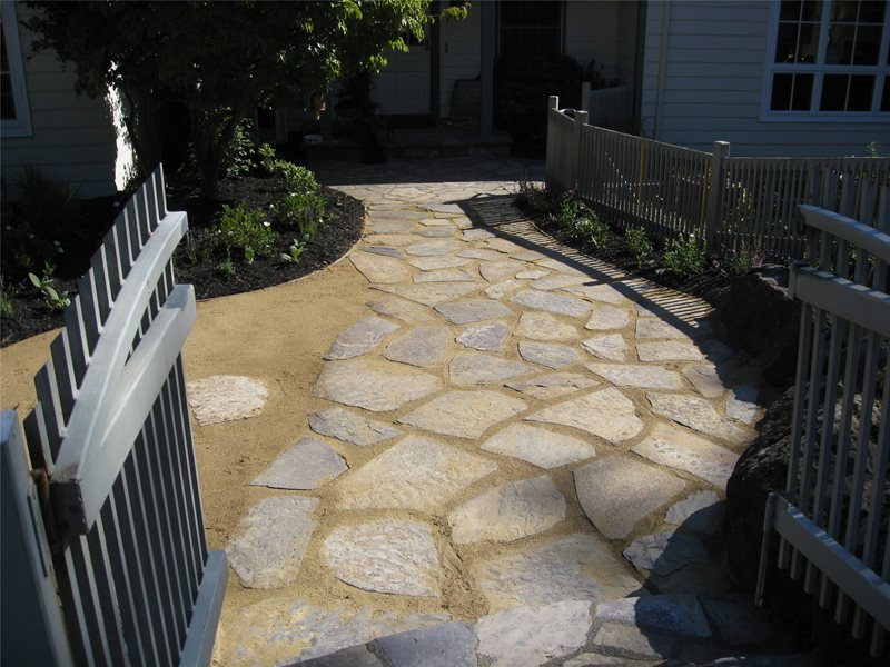Flagstone And Decomposed Granite Flagstone Walkway Dig Your Garden Landscape Design San Anselmo, CA