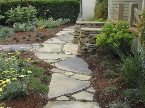 Flagstone Walkway Jeffrey Gordon Smith Landscape Architecture Los Osos, CA
