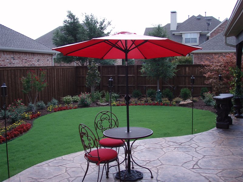 Decorative Concrete Patio Flagstone Backyard Creations Carrollton, TX
