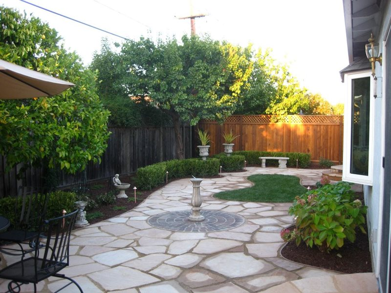 Flagstone san martin ca photo gallery landscaping for Find local garden designers