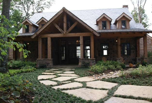 Front Entrance Landscaping Flagstone Landvisions TX Tyler, TX