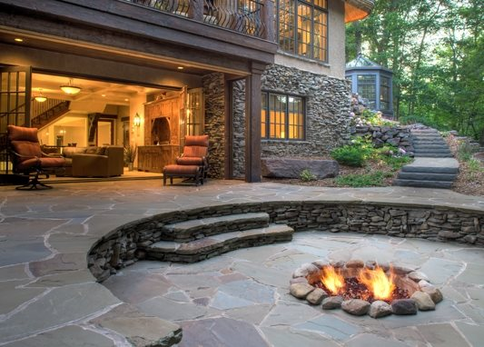 In Ground Fire Pit, Fire Ring Flagstone Barkley Landscapes & Design Group Minneapolis, MN