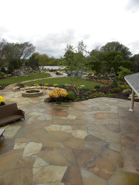Irregular Flagstone Patio, Crazy Paving Flagstone Small's Landscaping Inc Valparaiso, IN
