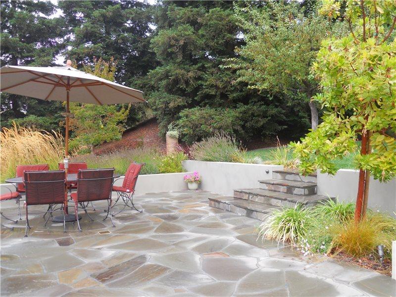 Irregular Flagstone Patio Flagstone Huettl Landscape Architecture Walnut Creek, CA