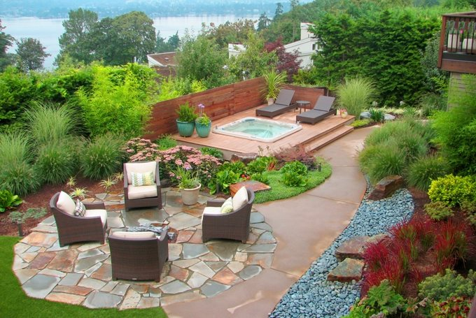 Outdoor Living Ideas Flagstone Darwin Webb Landscape Architects Issaquah, WA