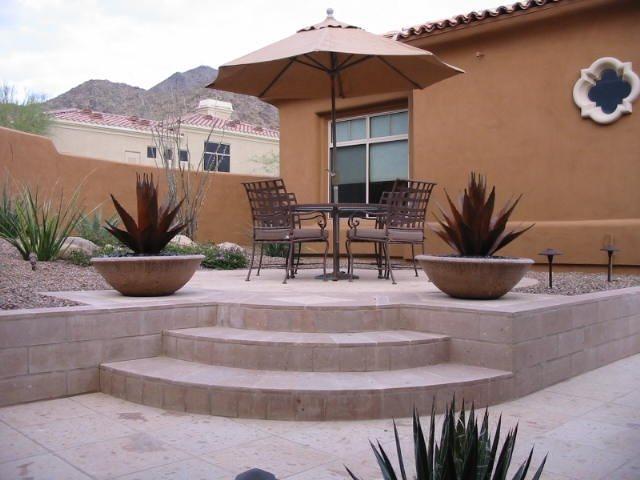 Raised, Patio Flagstone JSL Landscape LLC Sedona, AZ