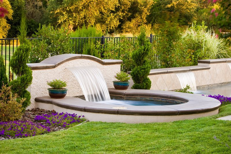 Custom Sheer Descent Fountain Fountain Simple Elegance Rocklin, CA