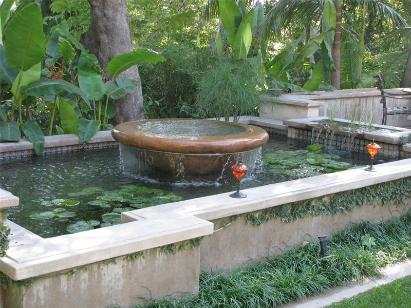 Fountain calimesa ca photo gallery landscaping network for Fish pond fountain design
