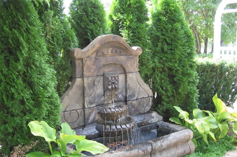 Large Wall Fountain Fountain Sisson Landscapes Great Falls, VA
