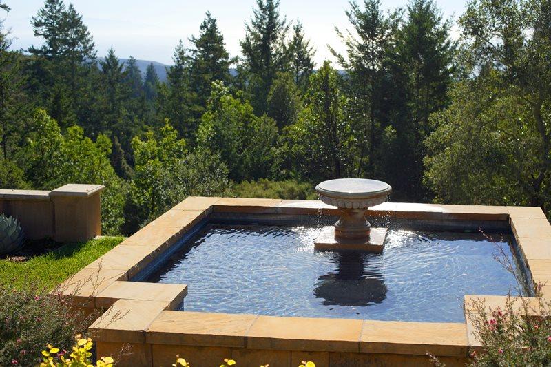 Mediterranean Fountain Fountain Landscaping Network Calimesa, CA