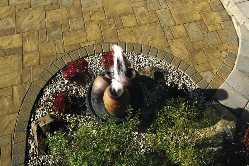 Pondless Fountain, Underground Reservoir Fountain Aztlan Outdoor Living Highland, NY