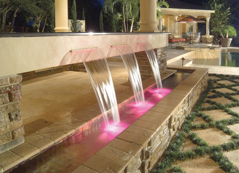 Sheer Descent Fountain, Trough Fountain Fountain Mid Atlantic Enterprise Inc Williamsburg, VA