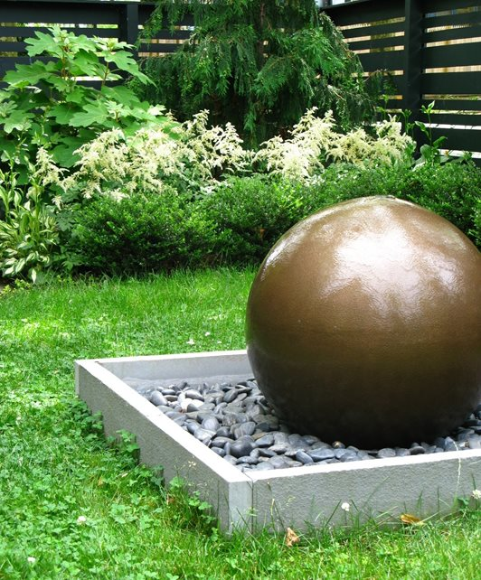 Spherical Fountain Fountain Livable Landscapes Wyndmoor, PA
