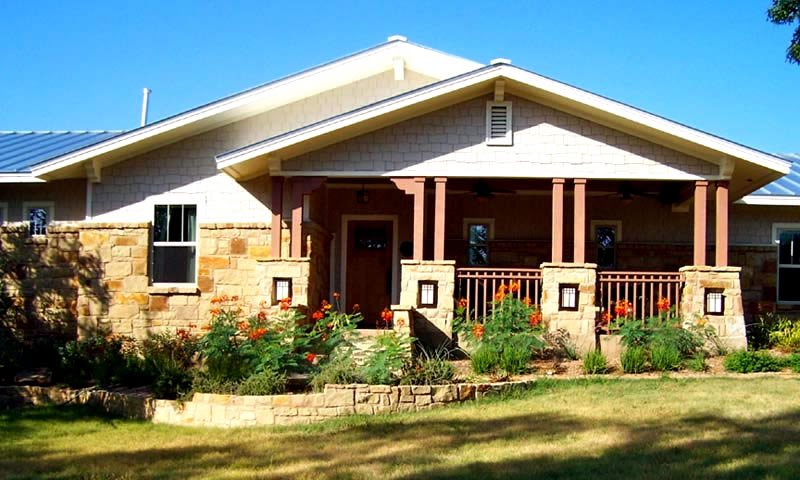 Austin Front Porch, Columns And Railings Front Porch GreenScapes Landscaping and Pools Austin, TX