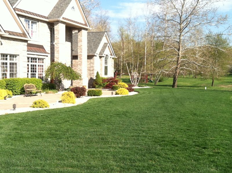Front Walk, Green Lawn Front Yard Landscaping LCS Companies Poughkeepsie, NY