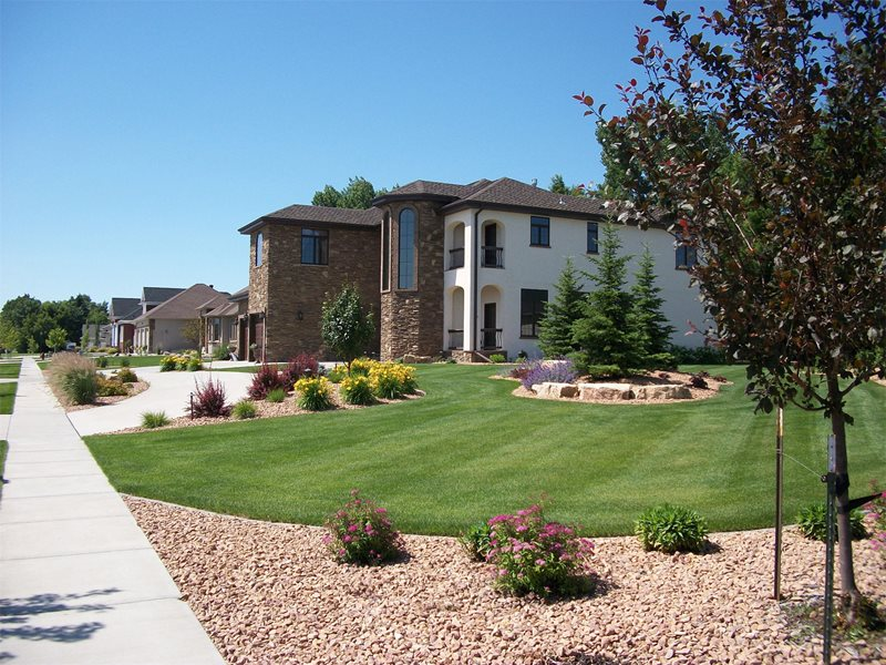 Front Yard, Lawn, Rocks, Trees, Driveway Front Yard Landscaping Signature Landscapes Inc. Fargo, ND