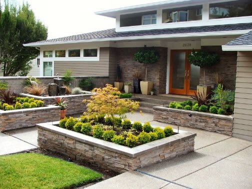 front yard landscaping - portland  or - photo gallery