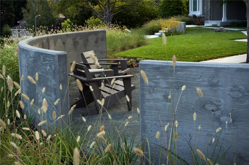 Front Yard Privacy Wall Front Yard Landscaping Shades of Green Landscape Architecture Sausalito, CA