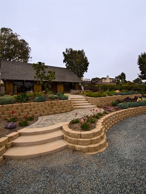 front yard landscaping - calimesa  ca - photo gallery