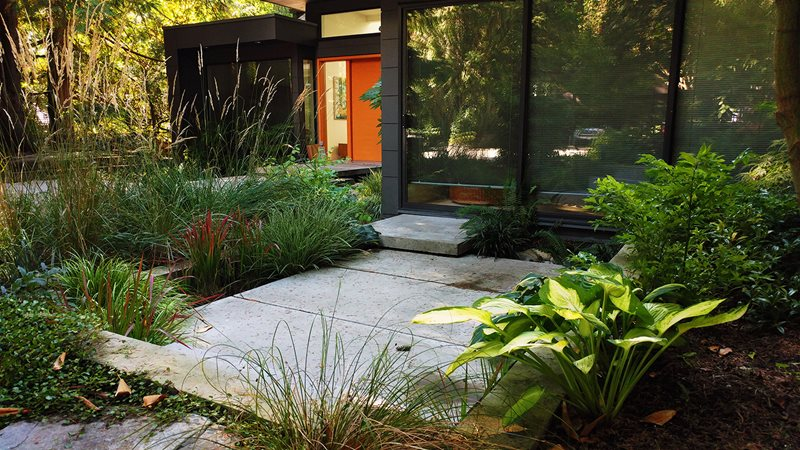 front yard landscaping - north vancouver  british columbia - photo gallery