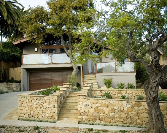 front yard landscaping - santa barbara  ca - photo gallery