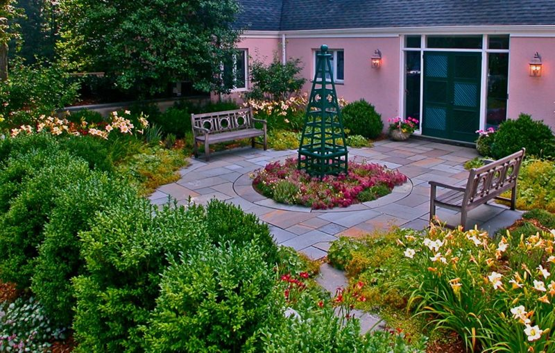 Garden Design - Pittstown, NJ - Photo Gallery ... on Backyard Patio Layout id=47521