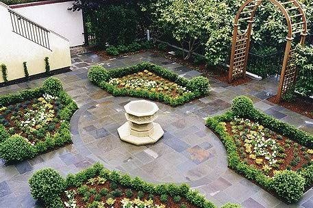 Four Square Garden French Design Jay Thayer Landscape Architect San Francisco