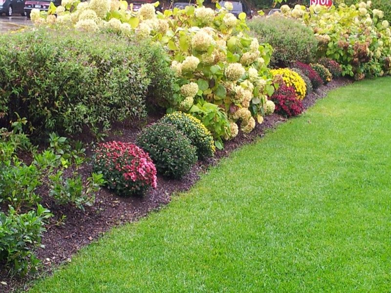 Seasonal Color Border Garden Design Belknap Landscape Co., Inc. Gilford, NH