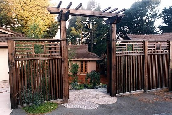 Asian Fence Design Gates and Fencing Goodman Landscape Design Berkeley, CA - Gates And Fencing - Berkeley, CA - Photo Gallery - Landscaping Network
