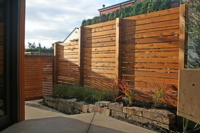 Contemporary Fence Design Gates and Fencing Banyon Tree Design Studio Seattle, WA
