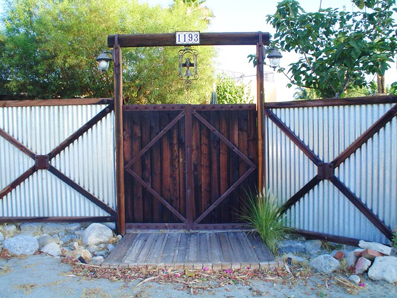 Corrugated Steel, Western Fence Gates and Fencing Maureen Gilmer Morongo Valley, CA