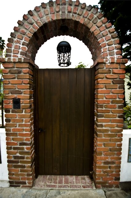 Entry Gate With Brick Work Gates and Fencing Landscaping Network Calimesa, CA