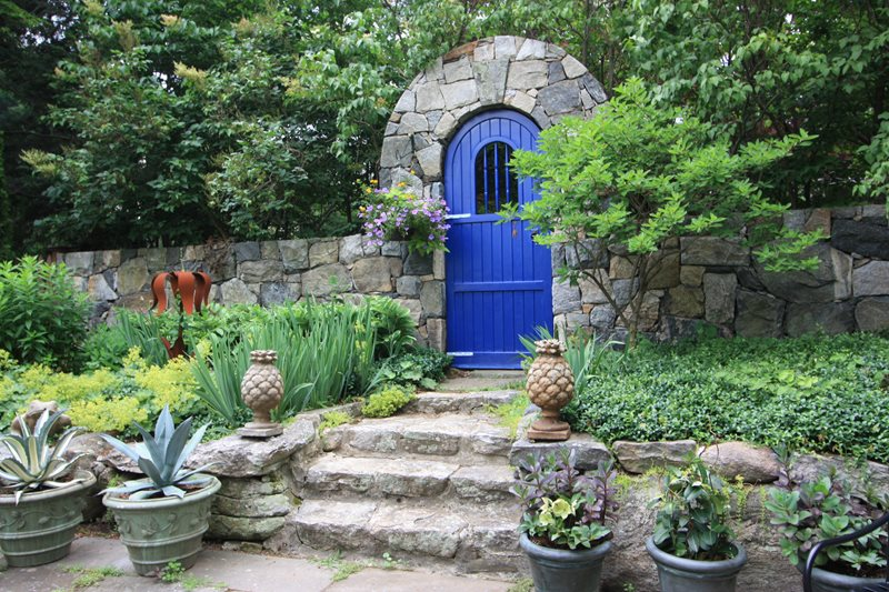 Gate, Arch, Blue, Stone Gates and Fencing Fairfield House & Garden Co. Greenwich, CT