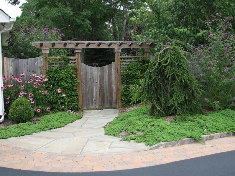 Gate Pergola Gates and Fencing Sitescapes Landscape Design Stony Brook, NY