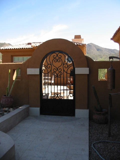 Iron, Arched, Stucco Gates and Fencing JSL Landscape LLC Sedona, AZ